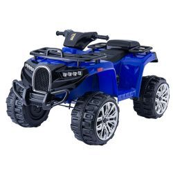 Electric Ride-On Quad ALLROAD 12V, Blue, Huge Soft EVA Wheels, 2 x 12V, Engine, LED Lights,MP3 PLayer with USB, 12V7Ah battery
