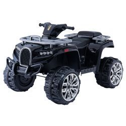 Electric Ride-On Quad ALLROAD 12V, Black, Huge Soft EVA Wheels, 2 x 12V, Engine, LED Lights,MP3 PLayer with USB, 12V7Ah battery