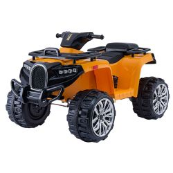 Electric Ride-On Quad ALLROAD 12V, Orange, Huge Soft EVA Wheels, 2 x 12V, Engine, LED Lights,MP3 PLayer with USB, 12V7Ah battery