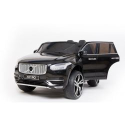 Electric Ride-On Volvo XC90, Black, Double Leather Seat, MP3 player with Bluetooth and USB Input, Opening doors and hood, 12V10Ah Battery, EVA Wheels, Suspension Axles, 2.4 GHz Remote Control, Licensed