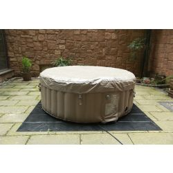 BeneoSpa Portable Inflatable Bubble Spa, Hot Tube, Jacuzzi, Brown & White