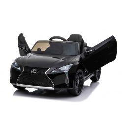 Electric Ride on Car Lexus LC500, Black, Original Licenced, 12V Battery Powered, Vertical opening doors, 2x Engine, 2.4 Ghz remote control, Suspension, Smooth start