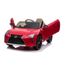 Electric Ride on Car Lexus LC500, Red, Original Licenced, 12V Battery Powered, Vertical opening doors, 2x Engine, 2.4 Ghz remote control, Suspension, Smooth start