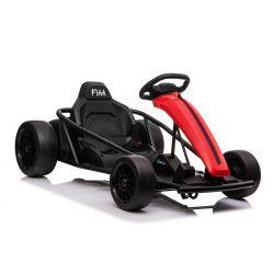 DRIFT-CAR 24V, Red, Smooth Drift wheels, 2 x 350W Motor, Drift mode at 18 Km / h, 24V Battery, Solid construction