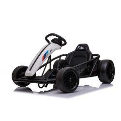 DRIFT-CAR 24V, White, Smooth Drift wheels, 2 x 350W Motor, Drift mode at 18 Km / h, 24V Battery, Solid construction