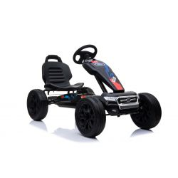 FORD Gokart - Pedal Car with idle run, black, Eva wheels, ORIGINAL license