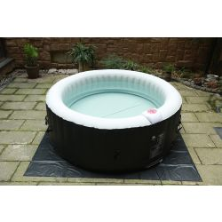 BeneoSpa Portable Inflatable Bubble Spa, Hot Tube, Jacuzzi, Black & White