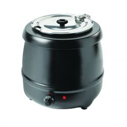 Soup Kettle, Black powder coated exterior, 35°C – 80°C, 6 thermostat positions, 400 Watts, 10L