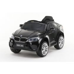 Electric Ride on Car BMW X6M NEW – Single seat, Black, Original Licenced, Battery Powered, Opening Doors, Leather Seat, 2x Engine, 12 V Battery, 2.4 Ghz remote control, Soft EVA wheels, Smooth start