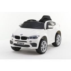 Electric Ride on Car BMW X6M NEW – Single seat, White, Original Licenced, Battery Powered, Opening Doors, Leather Seat, 2x Engine, 12 V Battery, 2.4 Ghz remote control, Soft EVA wheels, Smooth start