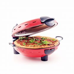 Richard Bergendi Stonebake Pizza Oven, pizza stone oven with window, pizza maker, red