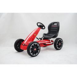 ABARTH Gokart - Pedal Car with idle run, red, Eva wheels, ORIGINAL license