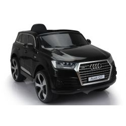 Electric Ride on Car Audi Q7 Quattro New, Black, Original Licenced, Battery Powered, Opening Doors, Single Seat, 2x Engine, 12 V Battery, 2.4 Ghz remote control, Soft EVA wheels, Smooth start
