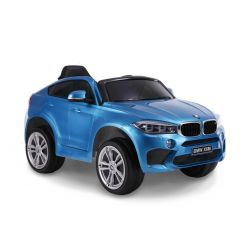 Electric Ride on Car BMW X6M NEW – Single seat, Blue Painted, Original Licenced, Battery Powered, Opening Doors, Leather Seat, 2x Engine, 12 V Battery, 2.4 Ghz remote control, Soft EVA wheels, Smooth start