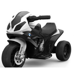 Electric Ride on Trike BMW S 1000 RR, Battery Powered Motorcycle, 3 wheels, Licensed, 1x Engine, 6V Battery, Black