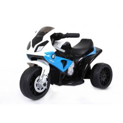Electric Ride on Trike BMW S 1000 RR, Battery Powered Motorcycle, 3 wheels, Licensed, 1x Engine, 6V Battery, Blue