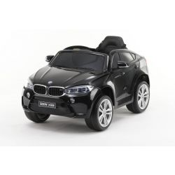 Electric Ride on Car BMW X6M NEW – Single seat, Black Painted, Original Licenced, Battery Powered, Opening Doors, Leather Seat, 2x Engine, 12 V Battery, 2.4 Ghz remote control, Soft EVA wheels, Smooth start