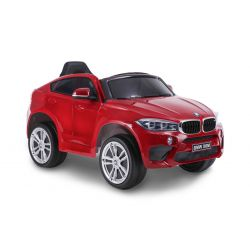Electric Ride on Car BMW X6M NEW – Single seat, Red Painted, Original Licenced, Battery Powered, Opening Doors, Leather Seat, 2x Engine, 12 V Battery, 2.4 Ghz remote control, Soft EVA wheels, Smooth start