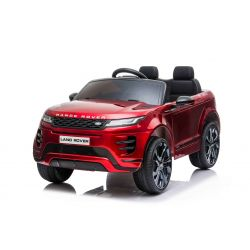 Electric Ride-On Range Rover EVOQUE, Red Painted, Double Leather Seat, MP3 Player with USB Input, 4x4 Drive, 12V10Ah Battery, EVA Wheels, Suspension Axles, Key start, 2.4 GHz Bluetooth Remote Control, Licensed