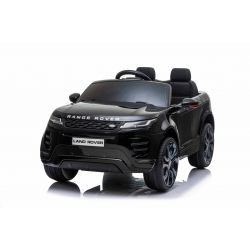 Electric Ride-On Range Rover EVOQUE, Black, Double Leather Seat, MP3 Player with USB Input, 4x4 Drive, 12V10Ah Battery, EVA Wheels, Suspension Axles, Key start, 2.4 GHz Bluetooth Remote Control, Licensed
