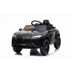 Electric Ride on Car Lamborghini URUS, Black, Original Licenced, Battery Powered, Opening doors, 2x Engine, 12 V Battery, 2.4 Ghz remote control, Soft EVA wheels, Suspension, Smooth start