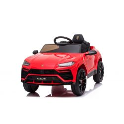 Electric Ride on Car Lamborghini URUS, Red, Original Licenced, Battery Powered, Opening doors, 2x Engine, 12 V Battery, 2.4 Ghz remote control, Soft EVA wheels, Suspension, Smooth start