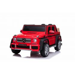 Electric Ride on Car Mercedes G650 MAYBACH, Red, Original Licence, 12V Battery Powered, Opening doors, 2 x 25W Engine, 2.4 Ghz remote control, Soft EVA wheels, Suspension, Soft start, MP3 Player with USB/SD input