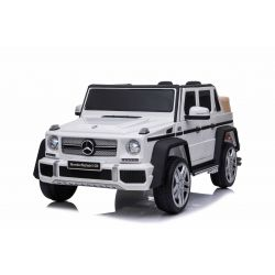 Electric Ride on Car Mercedes G650 MAYBACH, White, Original Licence, 12V Battery Powered, Opening doors, 2 x 25W Engine, 2.4 Ghz remote control, Soft EVA wheels, Suspension, Soft start, MP3 Player with USB/SD input
