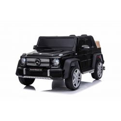 Electric Ride on Car Mercedes G650 MAYBACH, Black, Original Licence, 12V Battery Powered, Opening doors, 2 x 25W Engine, 2.4 Ghz remote control, Soft EVA wheels, Suspension, Soft start, MP3 Player with USB/SD input