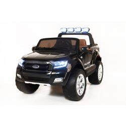 Electric Ride-On Toy Car Ford Ranger Wildtrak 4X4 LCD Luxury, LCD screen, 2.4Ghz, 2x12V, 4 X MOTOR, remote control, two-seats in leather, Soft EVA wheels, FM Radio, Bluetooth, Black