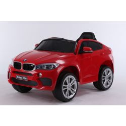 Electric Ride on Car BMW X6M NEW – Single seat, Red, Original Licenced, Battery Powered, Opening Doors, Leather Seat, 2x Engine, 12 V Battery, 2.4 Ghz remote control, Soft EVA wheels, Smooth start