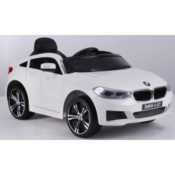 Electric Ride on Car BMW 6GT – Single seat, White, Original Licenced, Battery Powered, Opening Doors, 2x Engine, Battery 2x 6V/4 Ah, 2.4 Ghz remote control, Smooth start