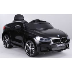 Electric Ride on Car BMW 6GT – Single seat, Black, Original Licenced, Battery Powered, Opening Doors, 2x Engine, Battery 2x 6V/4 Ah, 2.4 Ghz remote control, Smooth start