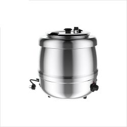 Soup Kettle, Stainless Steel exterior, 35°C – 80°C, 6 thermostat positions, 400 Watts, 10L