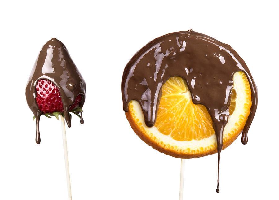 Chocolate covered fruits by Richard Bergendi Premier Inox